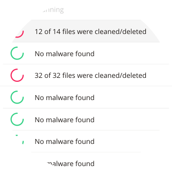 Malware scan & removal reports